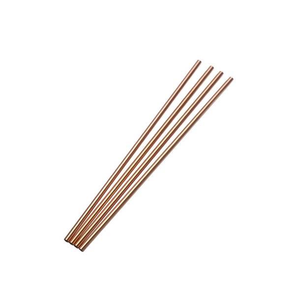 特洛鈦鋼短直吸管4入組 / 玫瑰金 珍珠奶茶,粗口徑,吸管,不鏽鋼,外出隨身,餐具,環保,ZAKKA,鄉村風,廚房
