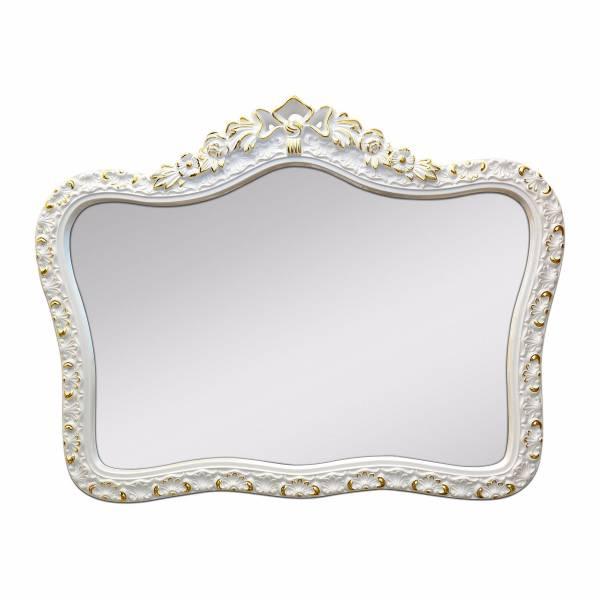 羅蘭皇冠古典雕花PU金箔掛鏡 古典白 玄關竟,浴室鏡,開店,