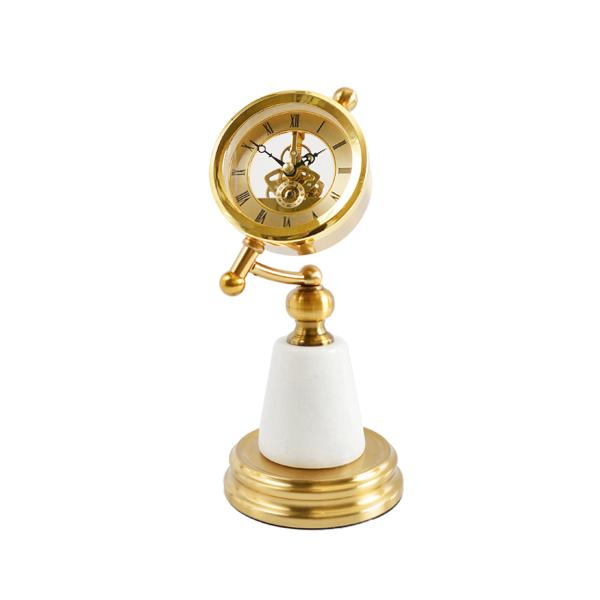 復古風華 大理石黃銅座鐘