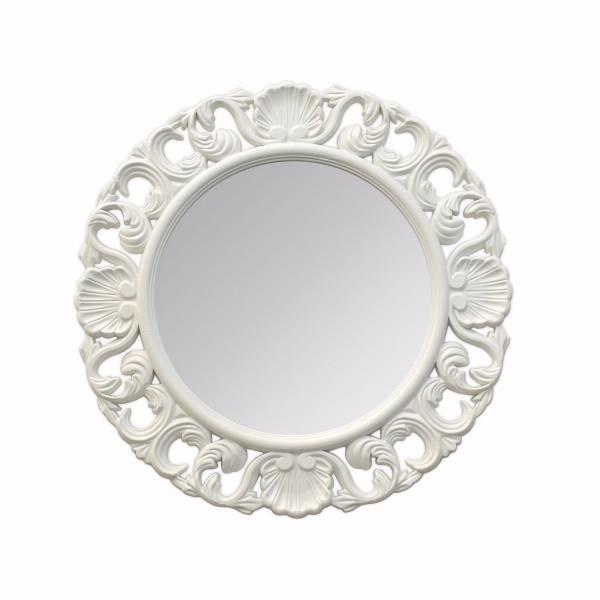 夏洛蒂立體浮雕古典壁掛鏡 白 玄關竟,浴室鏡,開店,