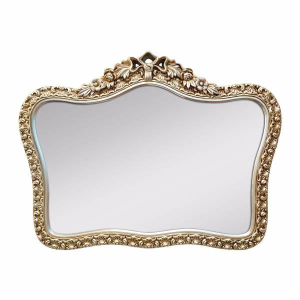 羅蘭皇冠古典雕花PU金箔掛鏡 復古銀 玄關竟,浴室鏡,開店,