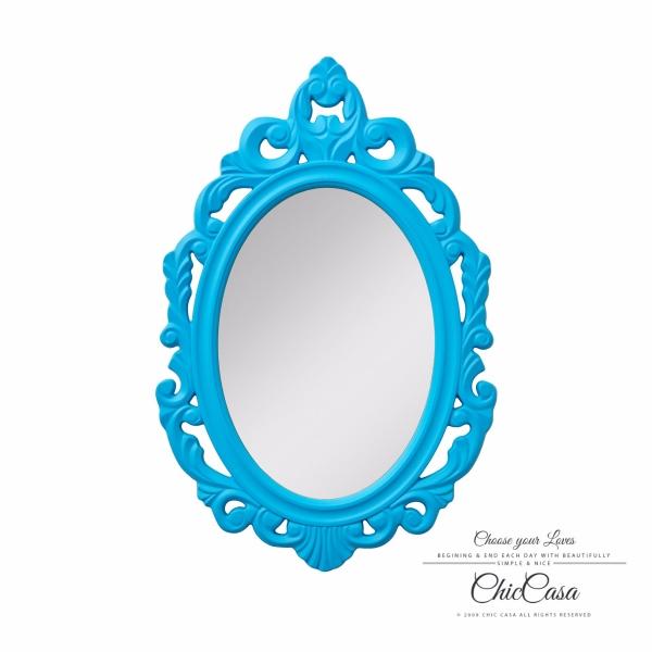 愛莉緹古典浮雕掛鏡 孔雀藍 玄關鏡,浴室鏡,開店,化妝鏡,掛鏡,鏡子
