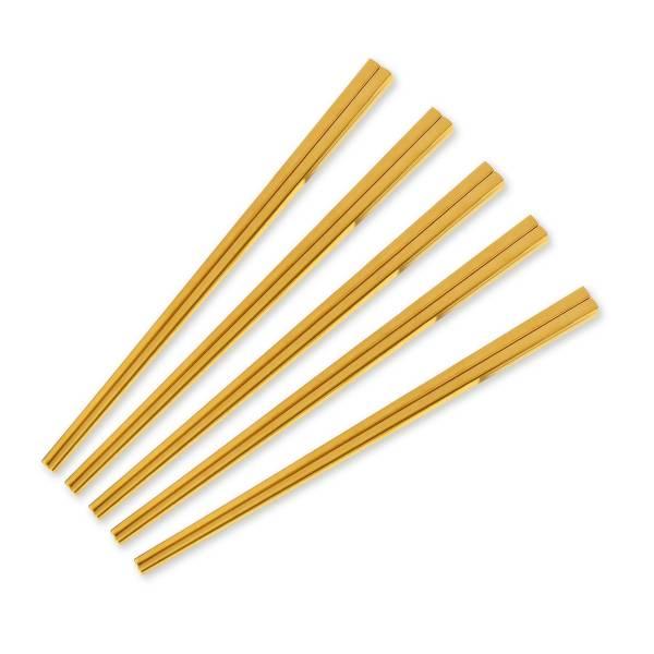 Hampton鈦金防燙筷5入禮盒組 / 璀璨金 餐具組,禮盒,筷子,不鏽鋼,鈦金,隨身餐具,環保,友善,防燙,廚房