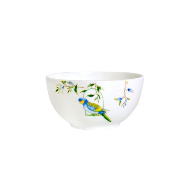 翡翠之森鸚鵡骨瓷碗