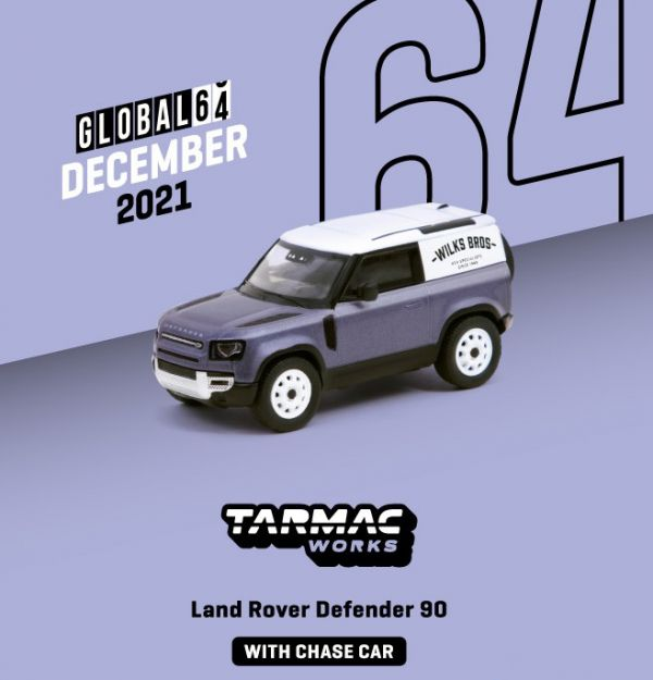 TARMAC WORKS 1/64 LandRover Defender 90 消光灰藍 合金車 TARMAC WORKS,1/64,LandRover Defender 90,消光灰藍,合金車,