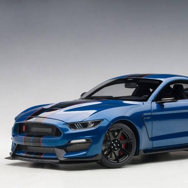 AUTOart 1/18 福特Ford Shelby GT350R 閃電藍 黑飾紋 合金模型 AUTOart,1/18,福特,Ford Shelby,GT350R,閃電藍,黑飾紋