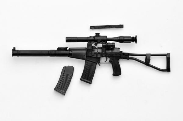 Tomytec 1/12 迷你武裝 LA042 消音狙擊步槍 AS VAL TYPE 組裝模型 Tomytec,1/12,迷你武裝,LA042,消音狙擊步槍,AS VAL TYPE,組裝模型