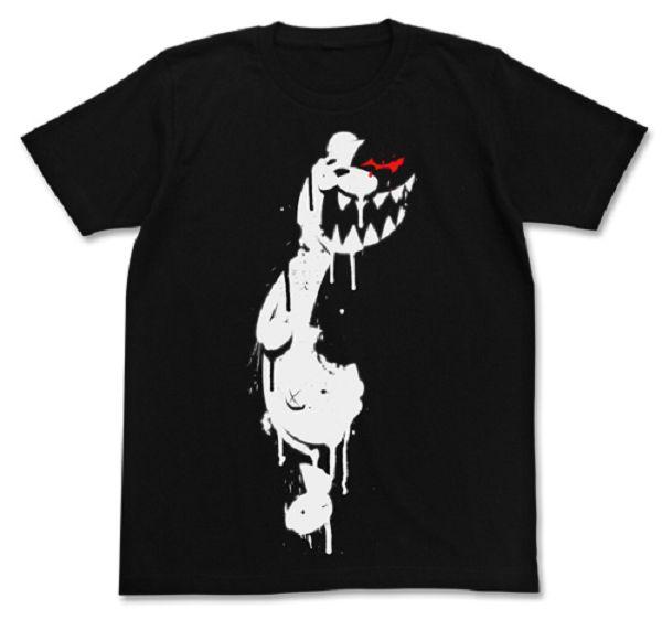 [再販] COSPA 槍彈辯駁3 The End of 希望峰學園 黑白熊 短袖T恤 黑色 COSPA,槍彈辯駁,The End of 希望峰學園,黑白熊,印刷,短袖T恤,黑