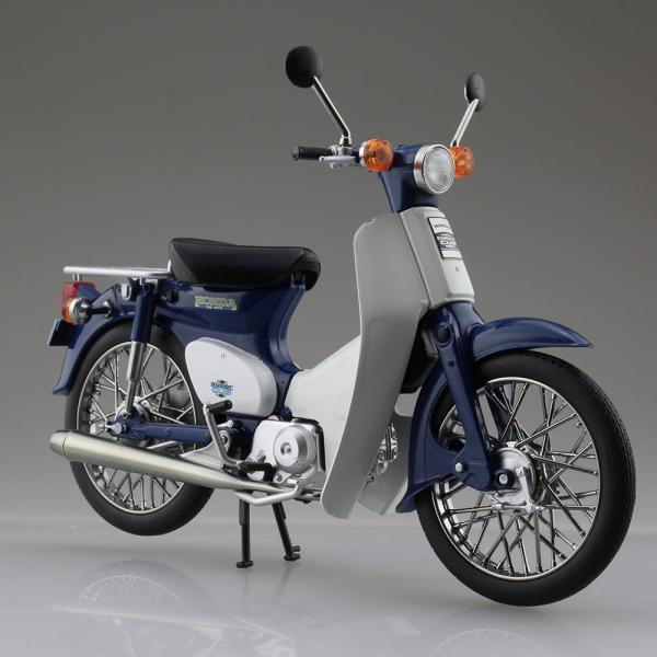 [已塗裝完成品] AOSHIMA  青島社 1/12 Honda 本田小狼 Super Cub 50 藍色 已塗裝完成品,AOSHIMA,1/12,Honda,本田小狼,Super Cub 50,藍色