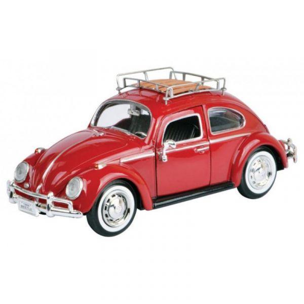 Motormax 1/24 福斯金龜車 Volkswagen Beetle 紅色 合金完成品 Motormax,1/24,福斯,金龜車,Volkswagen Beetle