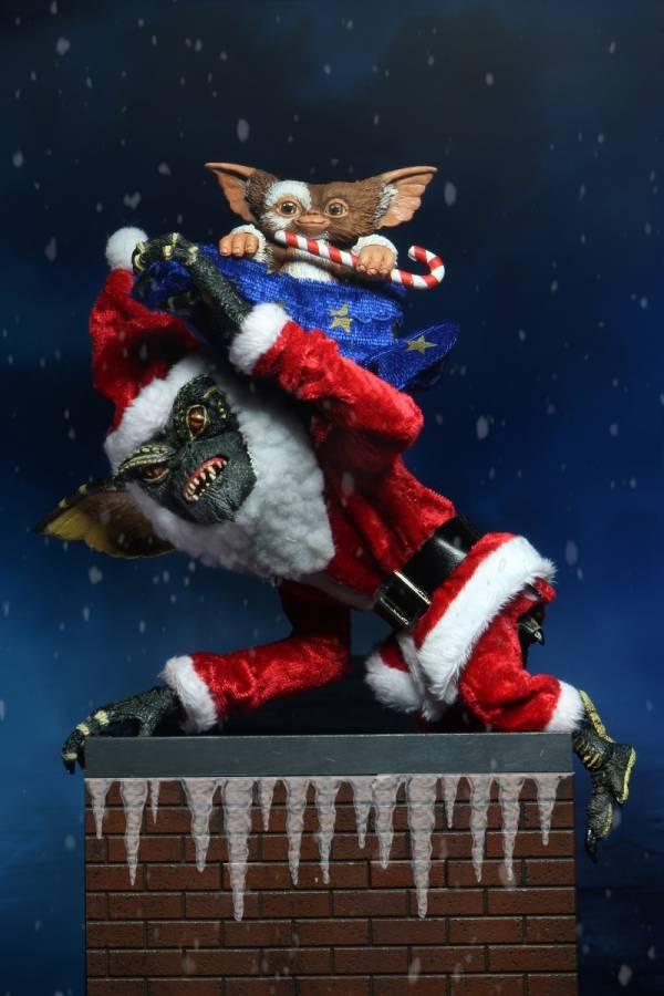 NECA 小精靈 Santa Stripe&Gizmo 聖誕裝 1984平面廣告立體化 7吋可動公仔 已塗裝可動完成品 NECA 7吋可動公仔 小精靈 Santa Stripe & Gizmo 聖誕裝 已塗裝可動完成品