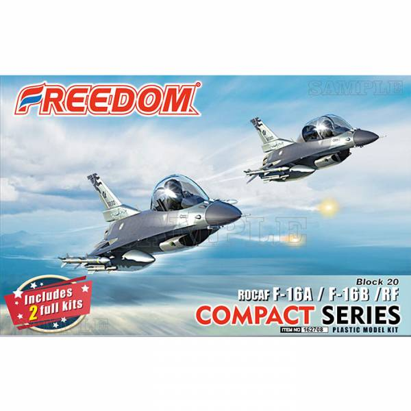 Freedom COMPACT 系列 中華民國空軍 ROCAF F-16 A/B/RF Q版戰機 組裝模型 Freedom,COMPACT 系列,中華民國空軍,ROCAF,F-16 A/B/RF ,組裝模型
