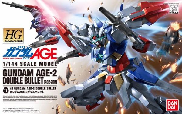 BANDAI HG AGE 1/144 #17 鋼彈AGE-2 雙砲型 組裝模型 鋼彈,HG  AGE,1/144,雙砲型