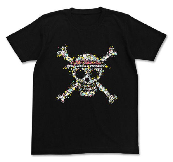 COSPA 海賊王 草帽骷髏圖形 短袖T恤 黑 COSPA,海賊王,草帽,骷髏,海賊旗,短袖T恤,黑