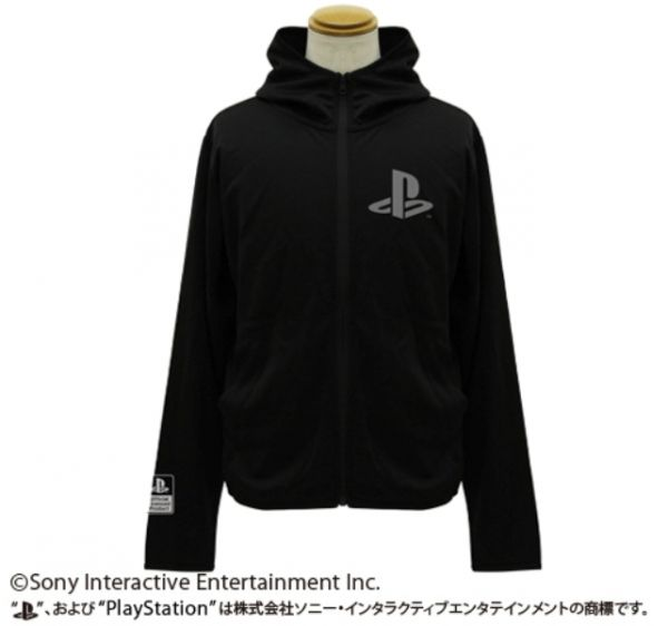 COSPA PlayStation PS 吸水速乾抗UV 連帽薄外套 黑色 COSPA,PlayStation,PS,吸水速乾抗UV,連帽薄外套