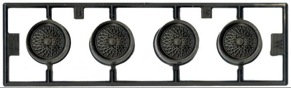 1/24 VOLK MESH 14吋 胎圈組 FUJIMI W11 富士美 組裝模型 FUJIMI,1/24,W,VOLK,MESH,14吋,鋁圈,