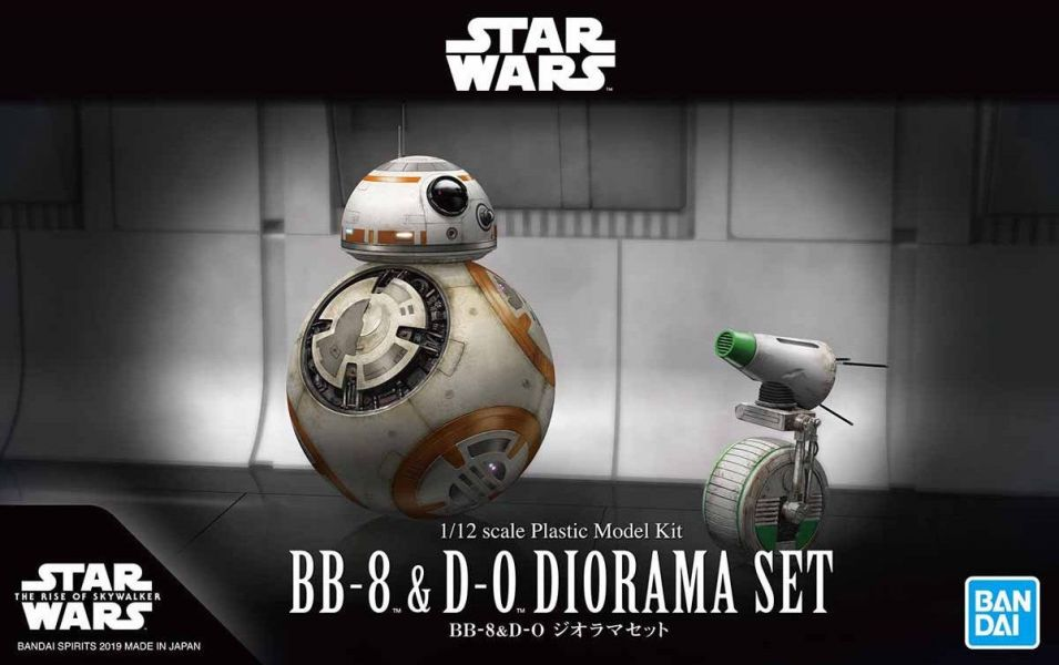 BANDAI 1/12 星際大戰 BB-8 & D-0 套組 組裝模型 BANDAI,1/12,星際大戰,BB-8,D-0