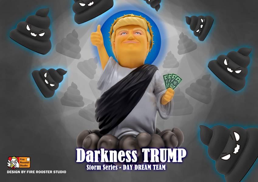 Fire Rooster Studio 救世彌普 川普 暗黑版 搪膠公仔 The Day Dream Team Saviour Trump The Day Dream Team,Saviour Trump,救世彌普,川普,暗黑版