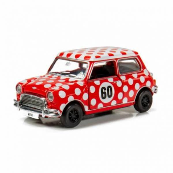 TINY Mini Cooper Mk 1 1960年代 波點裙 合金完成品 TINY,Mini Cooper Mk 1,1960年代,波點裙