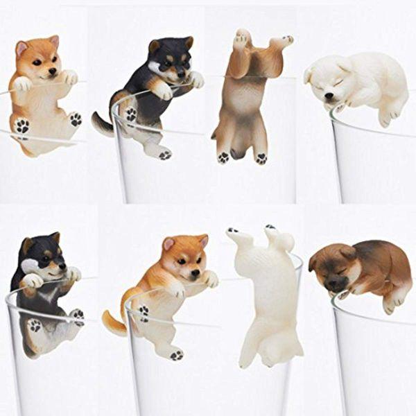 KITAN CLUB 扭蛋 柴犬杯緣裝飾 全8款 隨機8入販售 KITAN CLUB,扭蛋,牆縫探頭柴犬,磁鐵