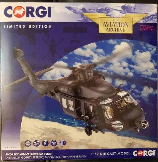 CORGI 1/72 黑鷹直升機  編號61AVATION Archive Sikorsky UH-60 Black Hawk  CORGI,1/72,黑鷹直升機, 編號61AVATION Archive Sikorsky UH-60,Black Hawk