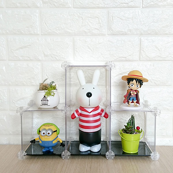 TIKUKAKYO 築傢居 百變展示架 透明 經典黑 象牙白 三色任選 單組販售 TIKUKAKYO,築傢居,模型用百變展示架