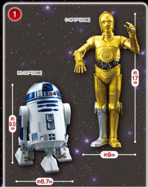 SEGA 景品 星際大戰 R2-D2 C3-PO 公仔 全2種販售 SEGA,景品,星際大戰,R2-D2,C3-PO,公仔