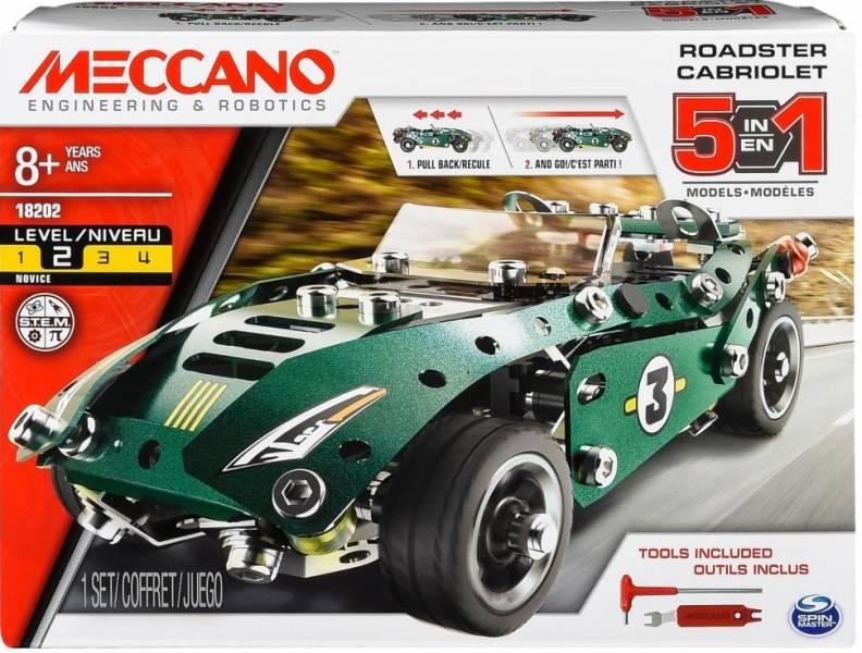 MECCANO 金屬建構 五合一回力車組 組裝模型 5-in-1 Roadster Pull Back Car #6040176 MECCANO,金屬建構組裝模型,五合一回力車組,5-in-1 Roadster Pull Back Car,6040176