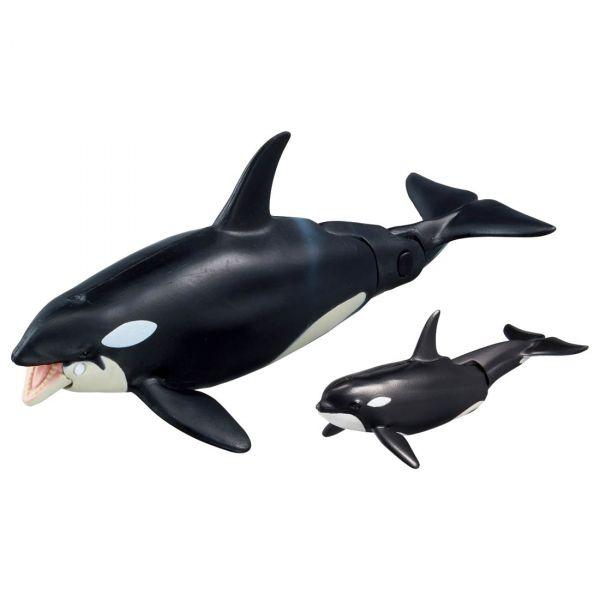 TAKARA TOMY Ania AL-08 殺人鯨親子 可浮於水面ver. 可動公仔 TAKARA TOMY,Ania,AL-08,殺人鯨親子,可浮於水面ver.