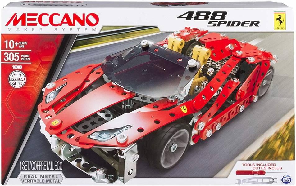 MECCANO 金屬建構 法拉利Ferrari 488 SPIDER 跑車組 組裝模型 #6028974 MECCANO,金屬建構組裝模型,法拉利Ferrari 488 SPIDER GTB,跑車,組裝模型,#6028974
