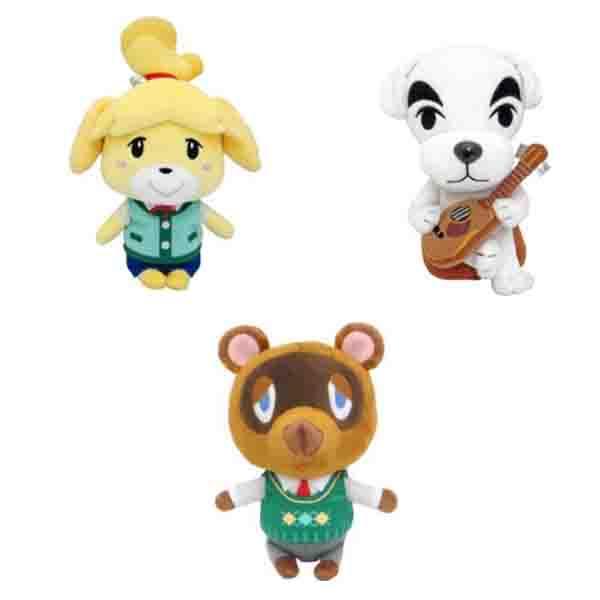 SAN-EI 動物森友會 絨毛玩偶 S號 全3款 各別販售 SAN-EI,動物森友會,絨毛玩偶,S號,西施惠,K.K,狸克