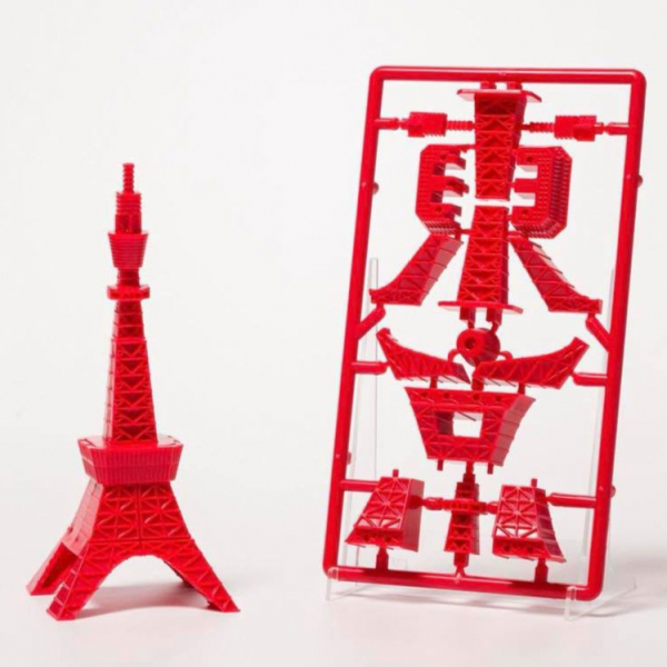 PLEX-POPY / 東京鐵塔字體模型 / 紅色 PLEX,東京鐵塔模型