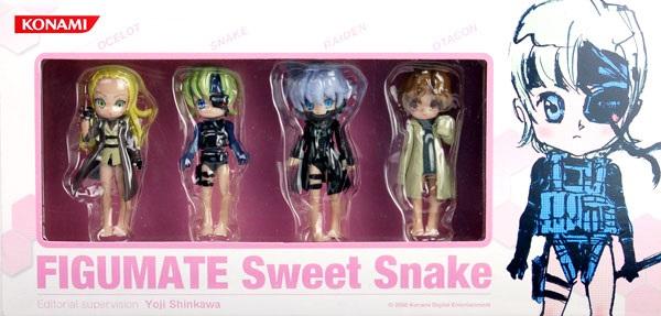 KONAMI FIGUMATE 潛龍蝶影 Sweet snake 已塗裝靜態公仔 KONAMI, FIGUMATE, 潛龍碟影, Sweet snake, 已塗裝靜態公仔
