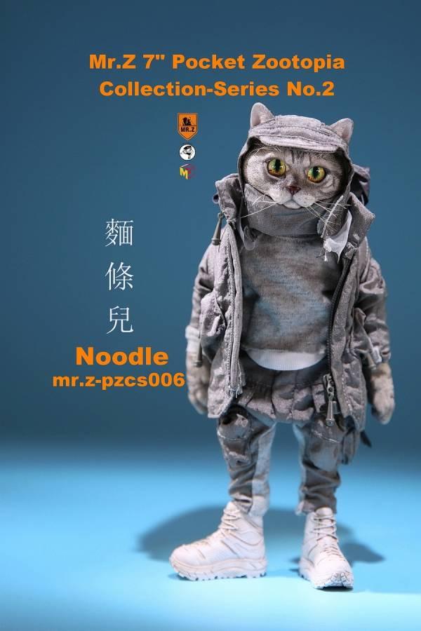 Mr.Z 口袋動物城系列 第二彈 貓咪麵條兒 Mr.Z,老朱,口袋動物城系列,第二彈,貓咪麵條兒