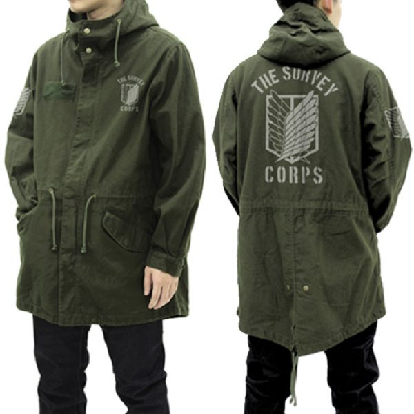 [再販] COSPA 進擊的巨人 調查兵團 M-51軍裝外套 大衣 苔癬綠 COSPA,進擊的巨人,調查兵團,M-51軍裝外套,大衣,苔癬綠