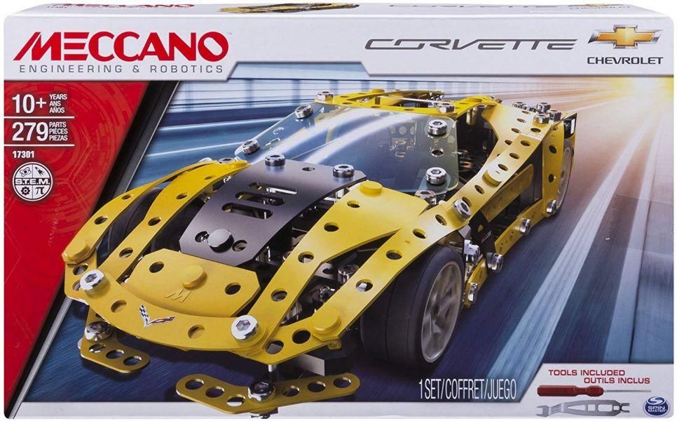 MECCANO 金屬建構 雪佛蘭跑車組 Chevrolet Corvette 組裝模型 #6036477 MECCANO,金屬建構組裝模型,雪佛蘭,跑車,Chevrolet Corvette, #6036477