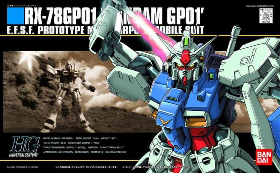 HGUC 1/144 #013 RX-78 GP01 鋼彈GP01 陸戰型