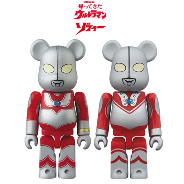 MEDICOM TOY BE@RBRICK 庫柏力克熊x超人力霸王 奧特曼 杰克&佐菲 2入組 Medicom Toy,庫柏力克熊,奧特曼杰克&佐菲