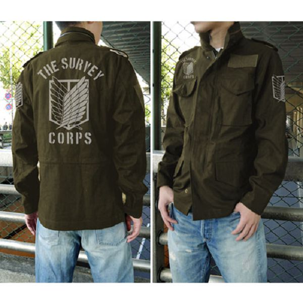COSPA 進擊的巨人 調查兵團徽章 M-65 軍裝外套 苔綠色 COSPA,進擊的巨人,調查兵團徽章,M-65,軍裝外套,大衣,苔綠
