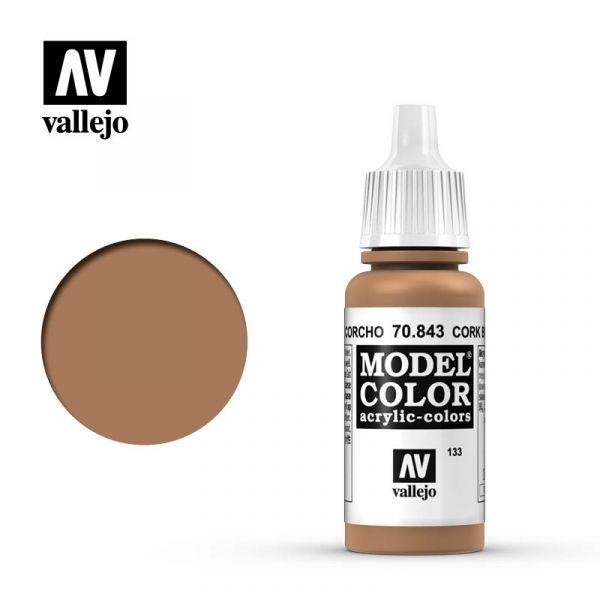 Acrylicos Vallejo AV水漆 模型色彩 Model Color 133 #70843 軟木褐色 17ml Acrylicos Vallejo,AV水漆,模型色彩,Model Color,133, #,70843,軟木褐色,17ml,