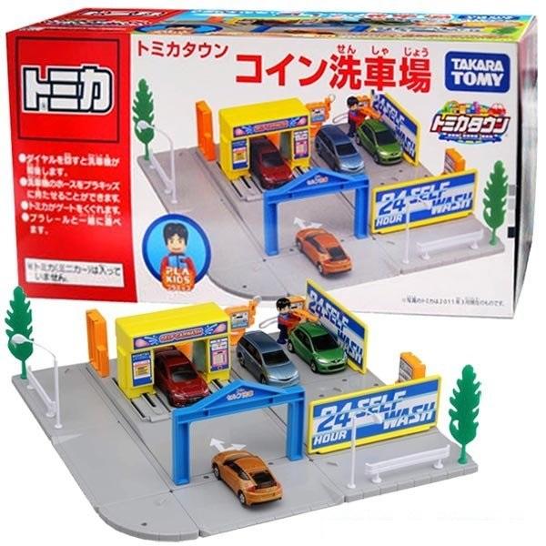 TAKARA TOMY 場景屋 投幣式洗車場 TAKARA TOMY,場景屋,投幣式洗車場