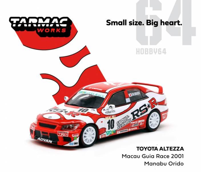 TRAMAC WORKS 1/64 豐田TOYOTA Altezza 澳門東望洋大賽 2001 合金車 TRAMAC WORKS,1/64,豐田,TOYOTA Altezza,澳門東望洋大賽 2001