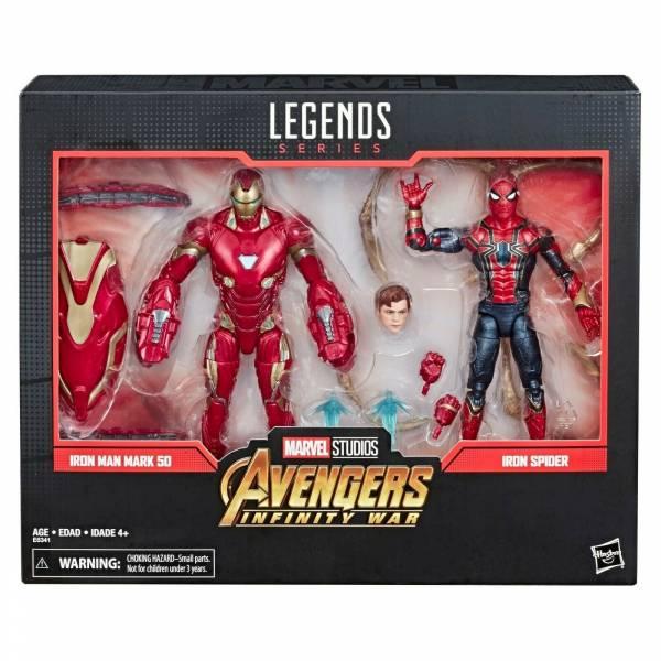 Hasbro 孩之寶 漫威 MARVEL LEGENDS 80周年 鋼鐵人MK50 & 鋼鐵蜘蛛人 可動人偶 Hasbro,孩之寶,漫威,MARVEL LEGENDS 80周年,鋼鐵人MK50,鋼鐵蜘蛛人