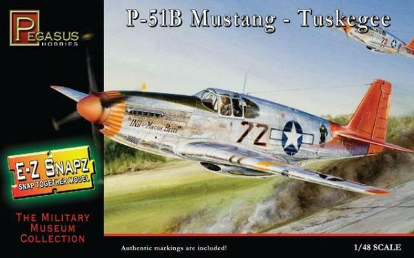 Pegasus 1/48 美國陸軍 P-51B 野馬式戰鬥機 Tuskegee PH8404 組裝模型 Pegasus,1/48,美國陸軍,P-51B,野馬式戰鬥機,Tuskegee,PH8404,組裝模型,