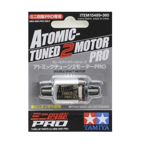 TAMIYA 田宮 #15489 迷你四驅車 軌道車 Atomic-Tuned 2 Motor Pro 中置雙頭 黑頭馬達