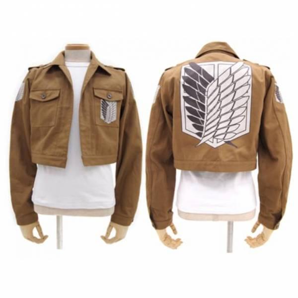 [再販] COSPA 進擊的巨人 調查兵團 短版軍裝夾克外套 [,再販,],COSPA,進擊的巨人,調查兵團,短版軍裝夾克外套,
