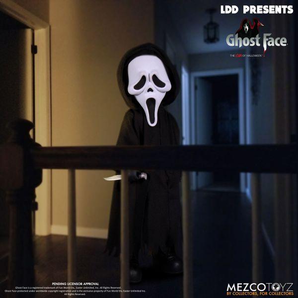MEZCO TOYZ LDD活死人娃娃系列 驚聲尖叫 死神 鬼臉 Ghost Face 可動公仔 MEZCO TOYZ,LDD,活死人娃娃, 驚聲尖叫,鬼臉,Ghost Face