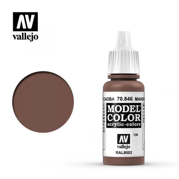 Acrylicos Vallejo AV水漆 模型色彩 Model Color 139 #70846 桃花心木褐色 17ml Acrylicos Vallejo,AV水漆,模型色彩,Model Color,139, #,70846,桃花心木褐色,17ml,
