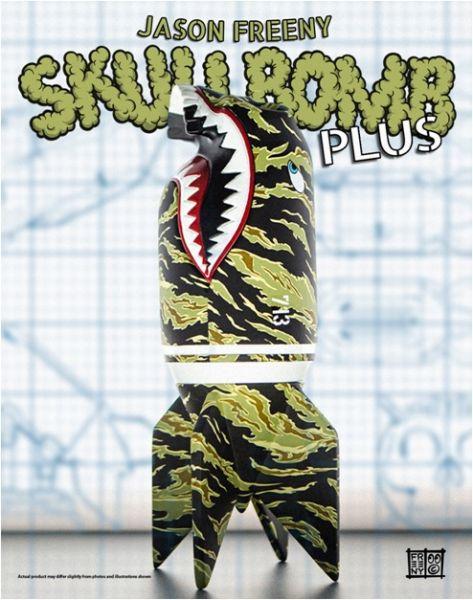 Mighty Jaxx 10吋 骷髏導彈 Skull Bomb Plus by Jason Freeny 靜態完成品 Mighty Jaxx,10吋,骷髏導彈,Skull Bomb,Plus,by,Jason Freeny,靜態完成品,