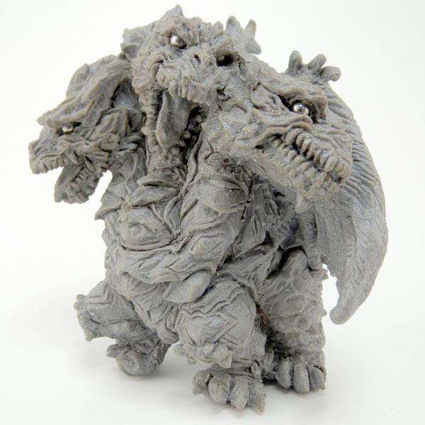 Chara-ani 哥吉拉 東寶怪獸造型根付 凱薩基多拉 Chara-ani,哥吉拉,東寶怪獸造型根付,凱薩基多拉